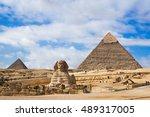 Giza Pyramids And Sphinx In...