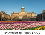 national tulip day at the dam... | Shutterstock . vector #489317779
