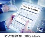 loan application financial help ...   Shutterstock . vector #489332137