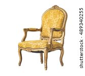 Classic Chair Style Isolated O...