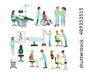 vector set of doctors and... | Shutterstock .eps vector #489353515