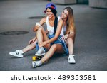 two young adult women with...