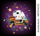 flat halloween icon  halloween... | Shutterstock .eps vector #489354151