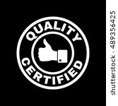 the certified quality and... | Shutterstock . vector #489356425