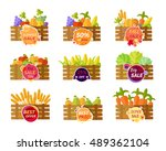 collection of stickers for... | Shutterstock .eps vector #489362104