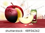 cut apple and vitamins | Shutterstock . vector #48936262