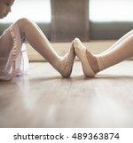 ballerina ballet dance practice ... | Shutterstock . vector #489363874