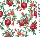 Hand Drawn Pomegranate Fruit O...