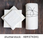 paper tissue  paper towel and... | Shutterstock . vector #489374341