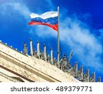 Waving National Flag Of Russia...