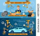 car assembly line banner... | Shutterstock .eps vector #489384235