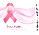 breast cancer awareness ribbon  ... | Shutterstock .eps vector #489389269