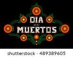 day of the dead vector... | Shutterstock .eps vector #489389605