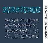 decorative upper case alphabet... | Shutterstock .eps vector #489397141