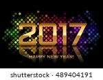 vector   happy new year 2017  ... | Shutterstock .eps vector #489404191