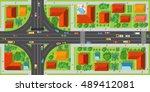 highway junction roads with... | Shutterstock .eps vector #489412081