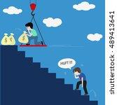 work hard vs work smart | Shutterstock .eps vector #489413641