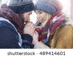 he really cares of his beloved | Shutterstock . vector #489414601