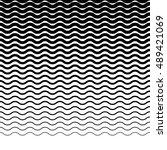 parallel wavy zigzag horizontal ... | Shutterstock .eps vector #489421069