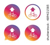 bicycle path trail sign icon....   Shutterstock .eps vector #489421585