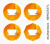 coffee cup sign icon. coffee... | Shutterstock .eps vector #489425371