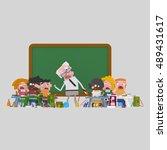 3d illustration. mr teacher...   Shutterstock . vector #489431617