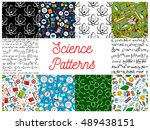 science seamless patterns with... | Shutterstock .eps vector #489438151