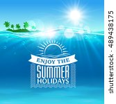 summer holiday. background with ... | Shutterstock .eps vector #489438175