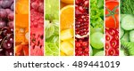 fruits and vegetables. fresh... | Shutterstock . vector #489441019