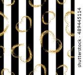 Golden Grunge Hearts Stripes...