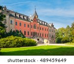 sychrov castle with typical... | Shutterstock . vector #489459649