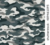 military camouflage seamless... | Shutterstock . vector #489461095
