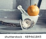 Silver Clock On Chain Near...