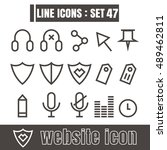 icons line website modern...
