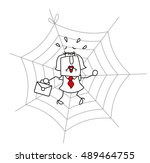 spider web and the... | Shutterstock .eps vector #489464755