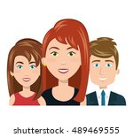 character women and man smiling ... | Shutterstock .eps vector #489469555