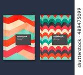 cover design for brochure... | Shutterstock .eps vector #489475099