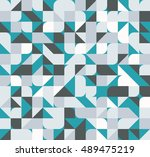 vector seamless square triangle ... | Shutterstock .eps vector #489475219
