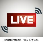 button icon live streaming... | Shutterstock .eps vector #489475921