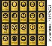 health and safety signs. safety ... | Shutterstock .eps vector #489476725