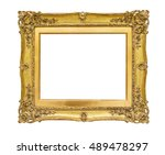antique golden picture frame on ... | Shutterstock . vector #489478297