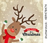 Reindeer Cartoon Card Christmas ...