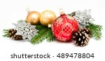 Christmas decoration balls with ...