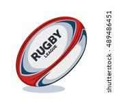 Rugby Ball Red  White And Blue...
