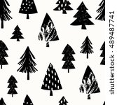 seamless repeating pattern with ... | Shutterstock .eps vector #489487741