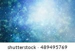 starry outer space background... | Shutterstock . vector #489495769