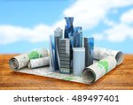 concept of building cities for... | Shutterstock . vector #489497401