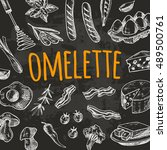 omelette card with elements of...