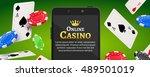 online mobile casino background.... | Shutterstock .eps vector #489501019