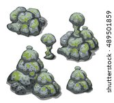 A Set Of Grey Boulders  Covere...